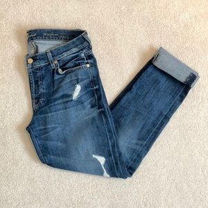 7 For All Mankind Josefina Skinny Boyfriend Jeans.
